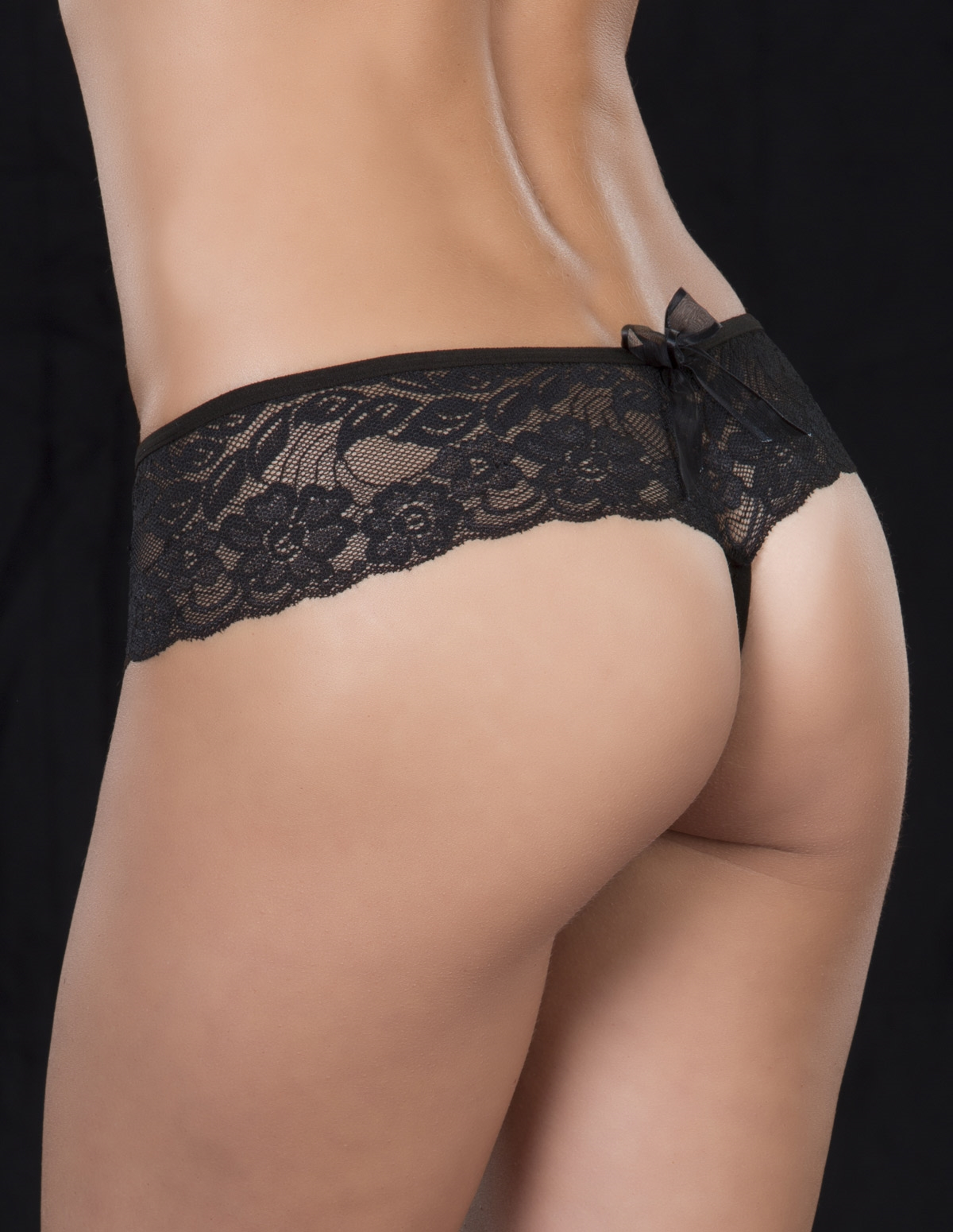 Lace Crotchless Thong