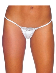 LACE TRIM Y-BACK THONG
