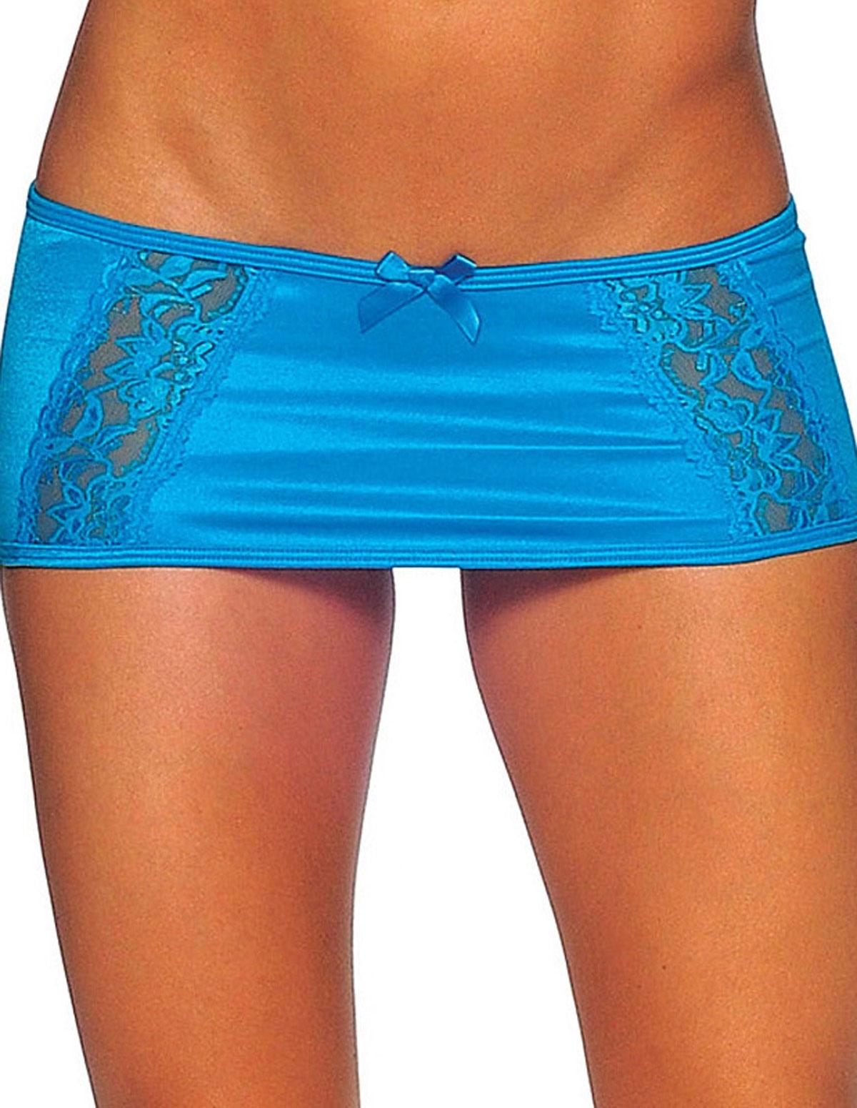 Lace Front Mini Skirt