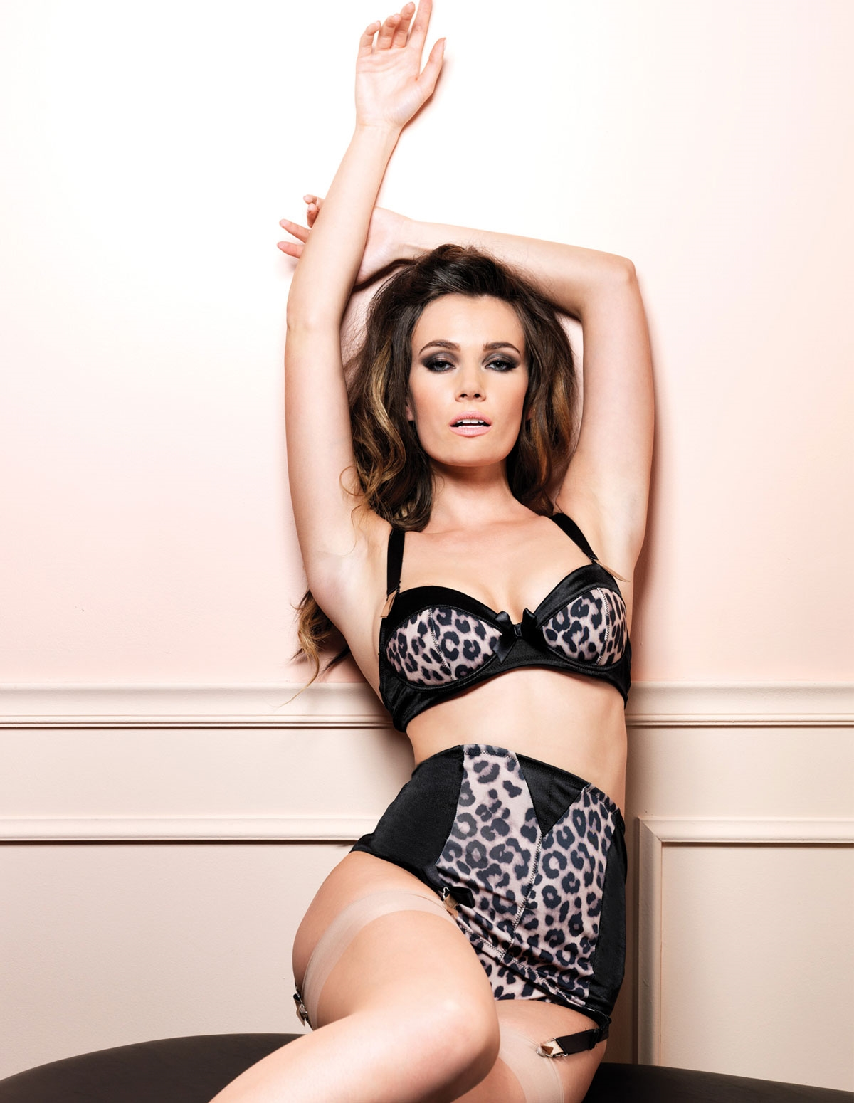 3Pc Leopard Love Bra Set