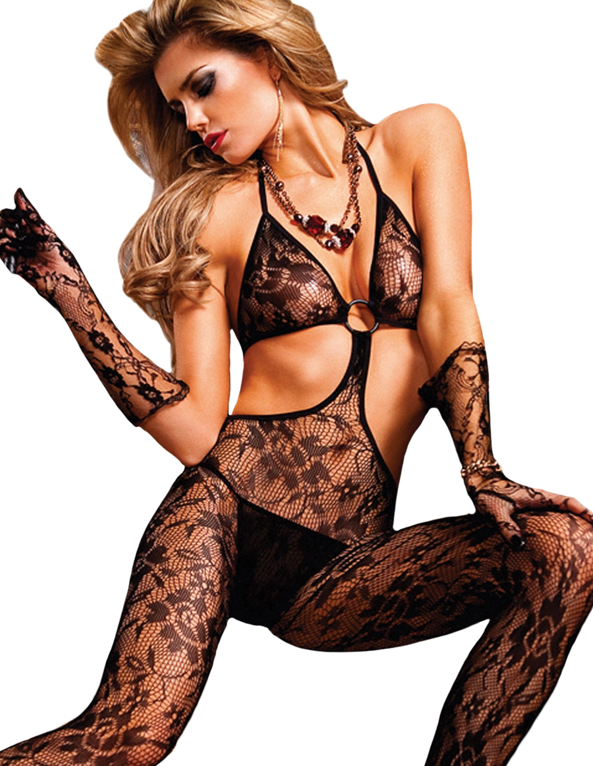 Flower Lace Bodystocking