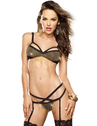 DAZZLE ME CHAIN BRA SET