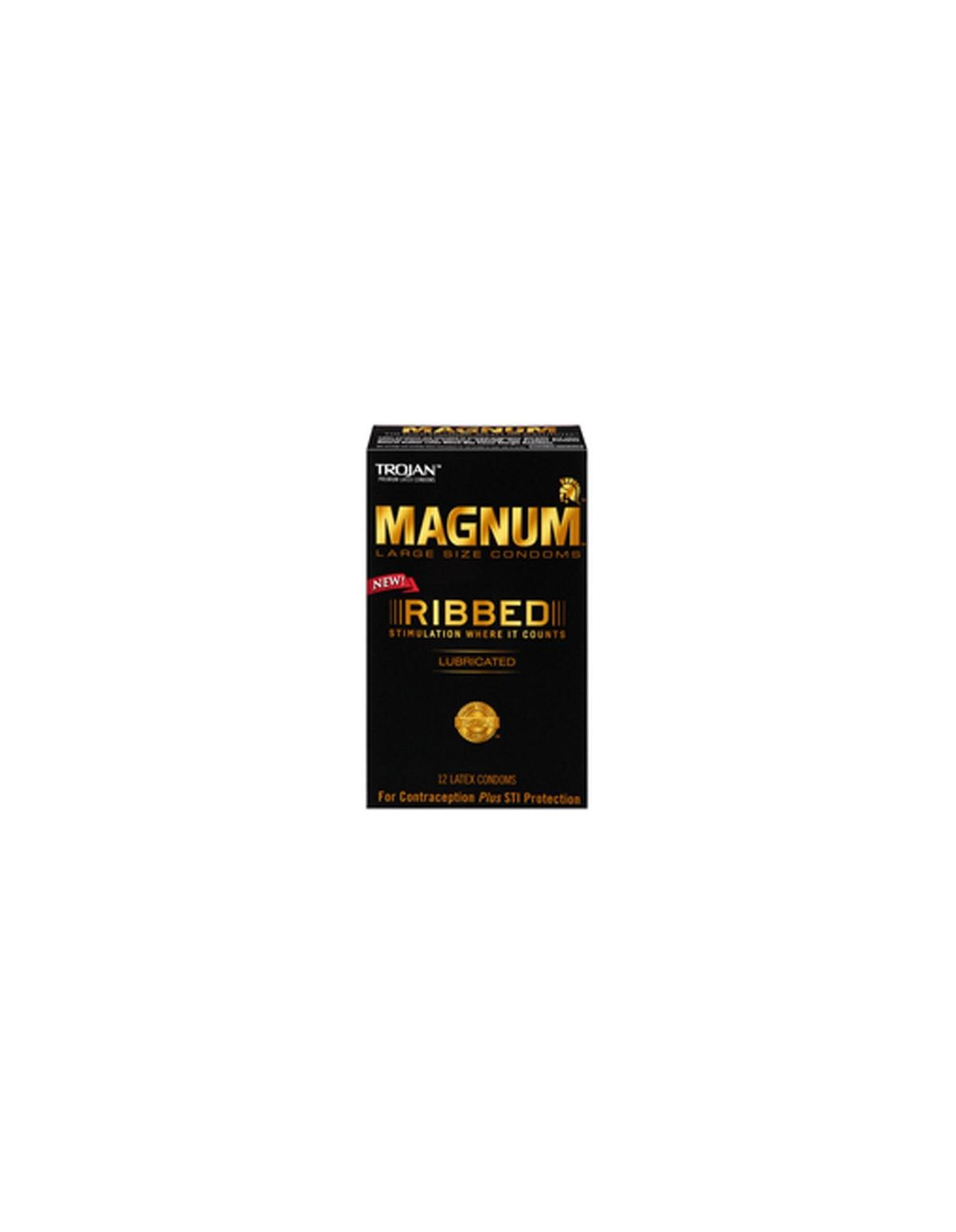 Trojan Magnum Ribbed 12Pk