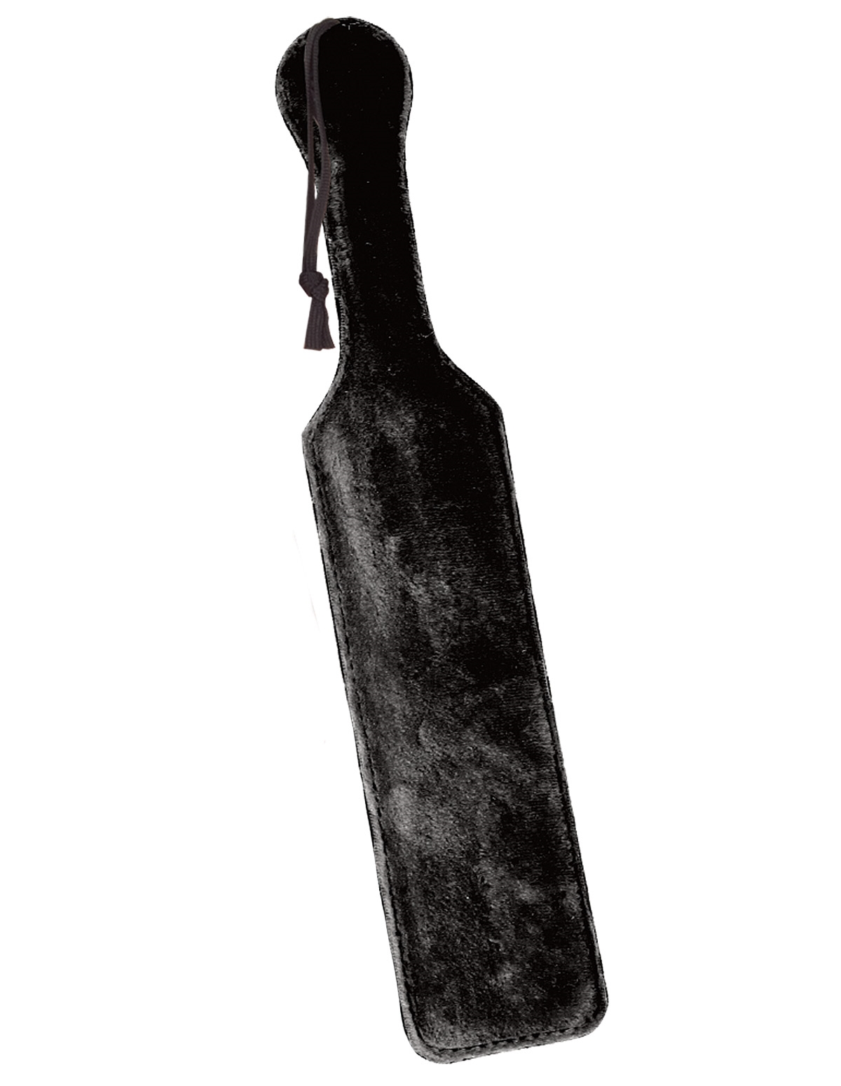 Leather Paddle W/Black Fur