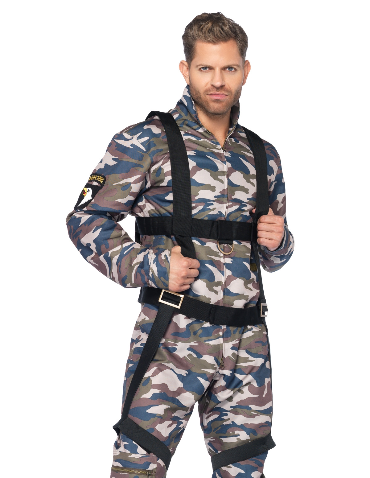 2Pc Male Paratrooper Costume