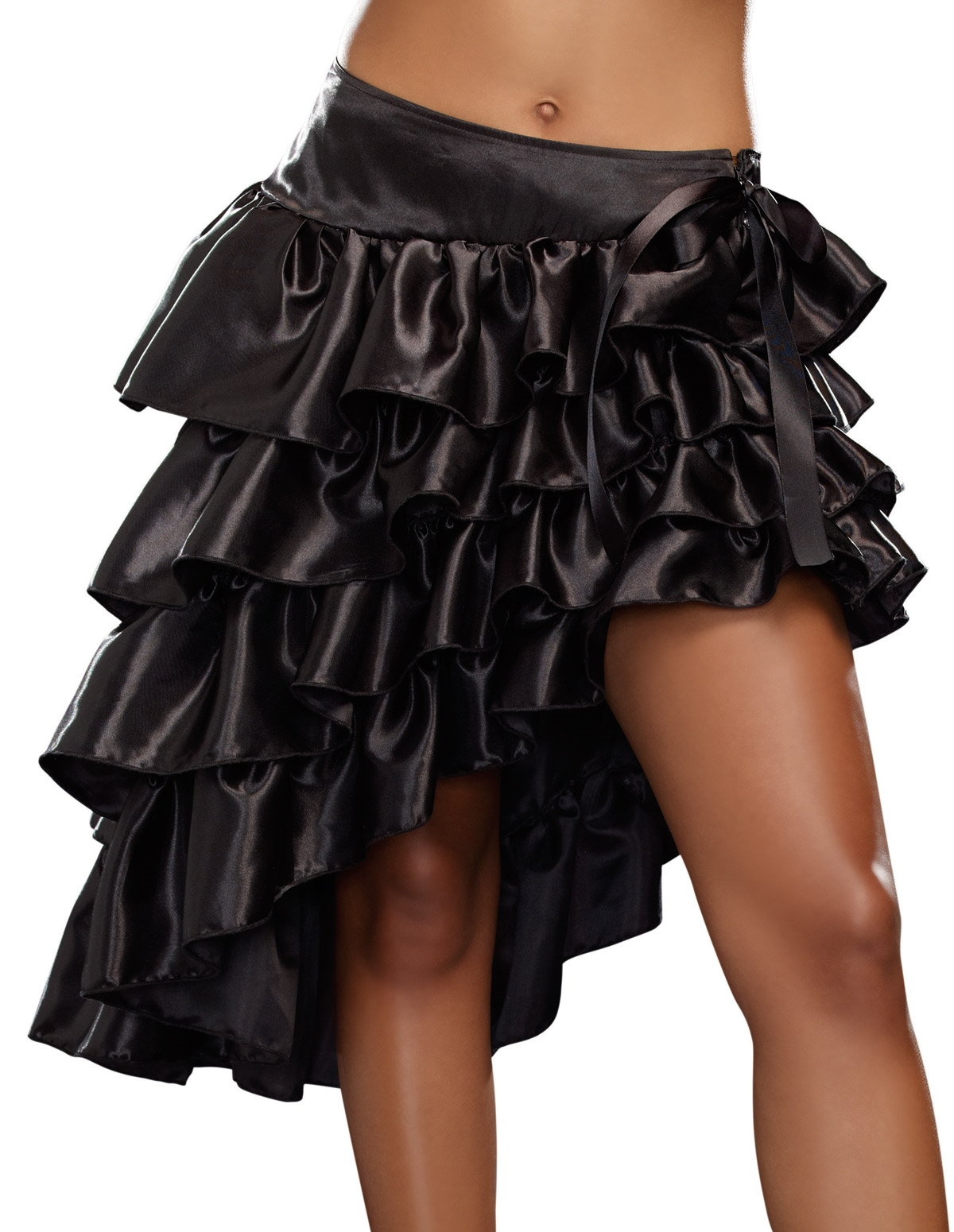 Ruffled Train Skirt