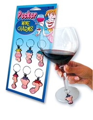 PECKER WINE CHARMS