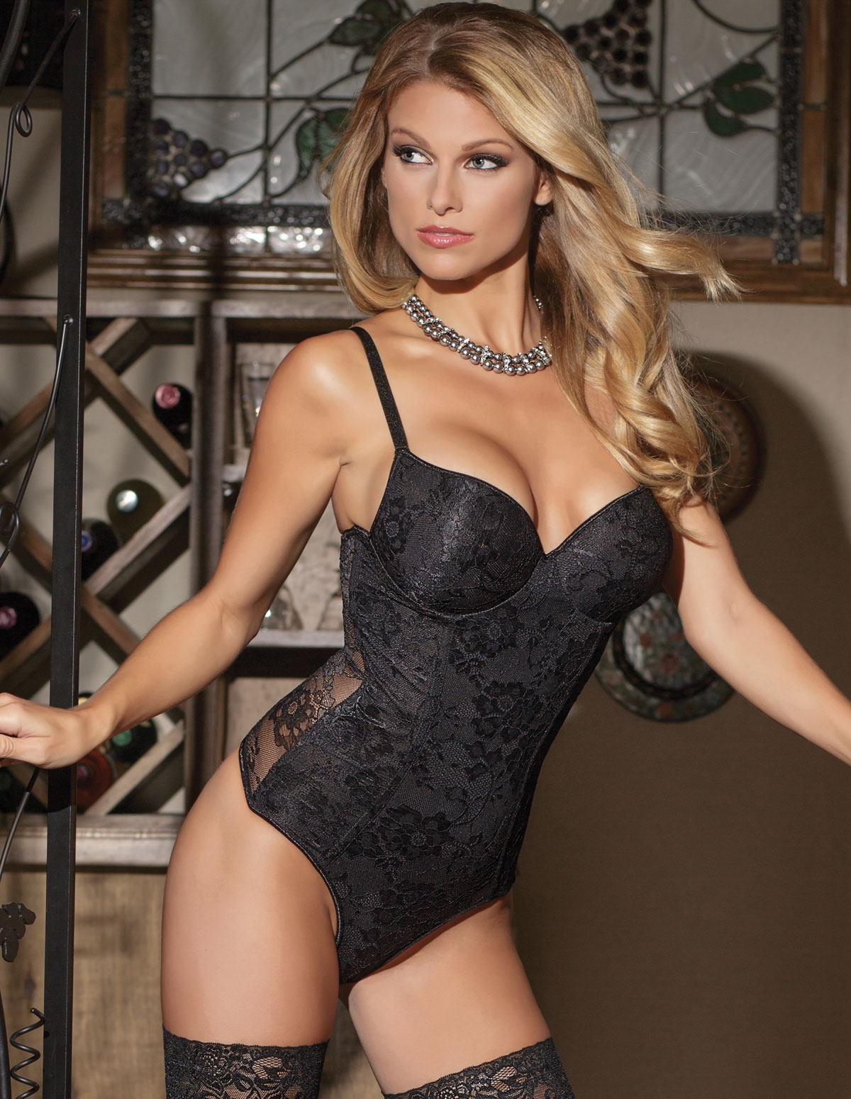 Lace Back Teddy
