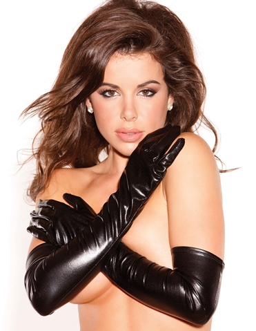 KITTEN WET LOOK GLOVES
