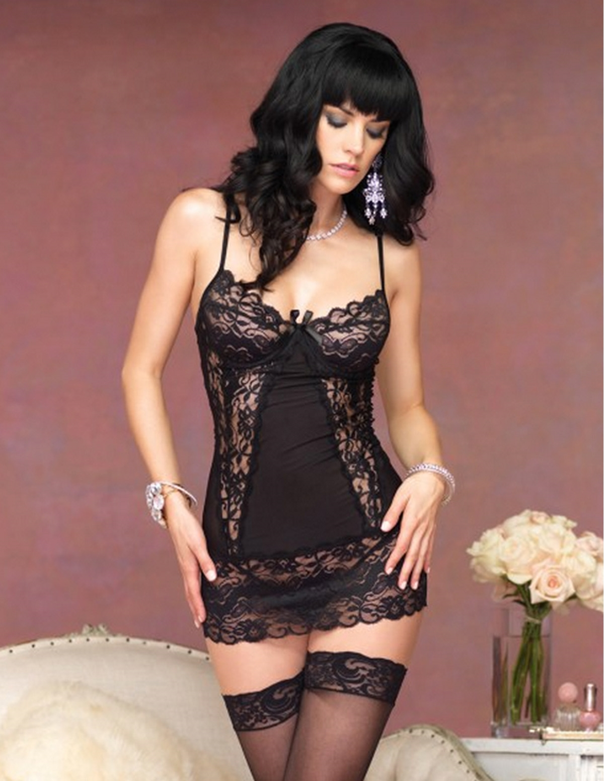 Lace Underwire Chemise