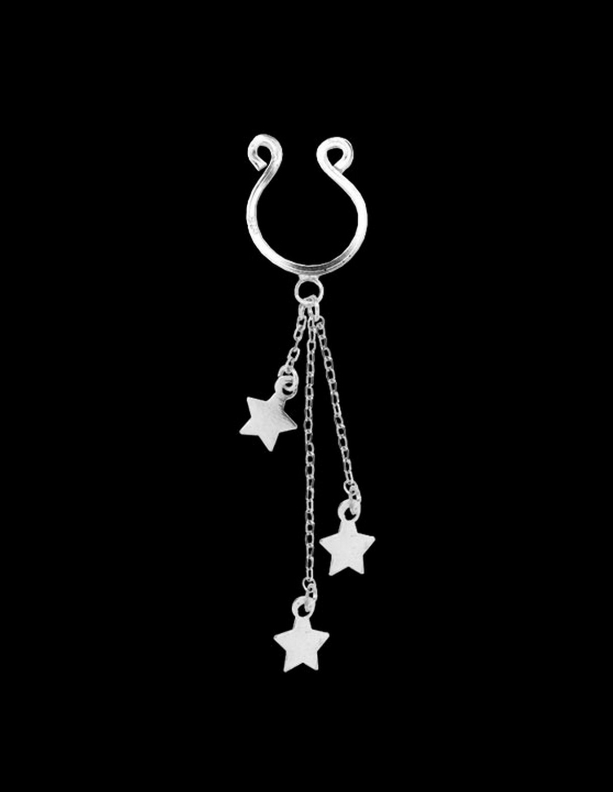 Star Dangle Nipple Clip On