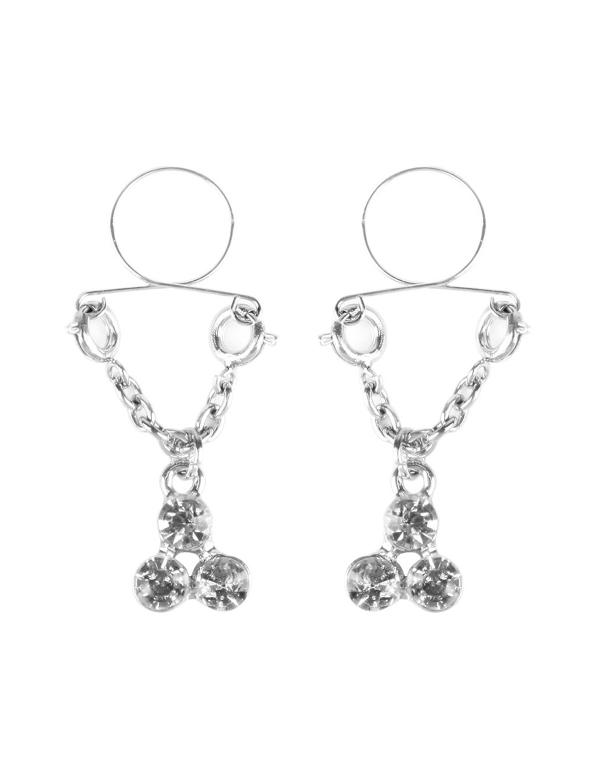 Diamond Cluster Nipple Jewelry