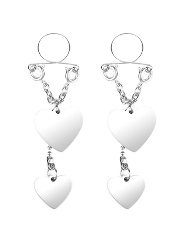 SILVER HEART NIPPLE JEWELRY