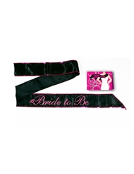 BRIDE TO BE SASH - BLACK