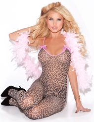 LEOPARD BODYSTOCKING WITH BOWS