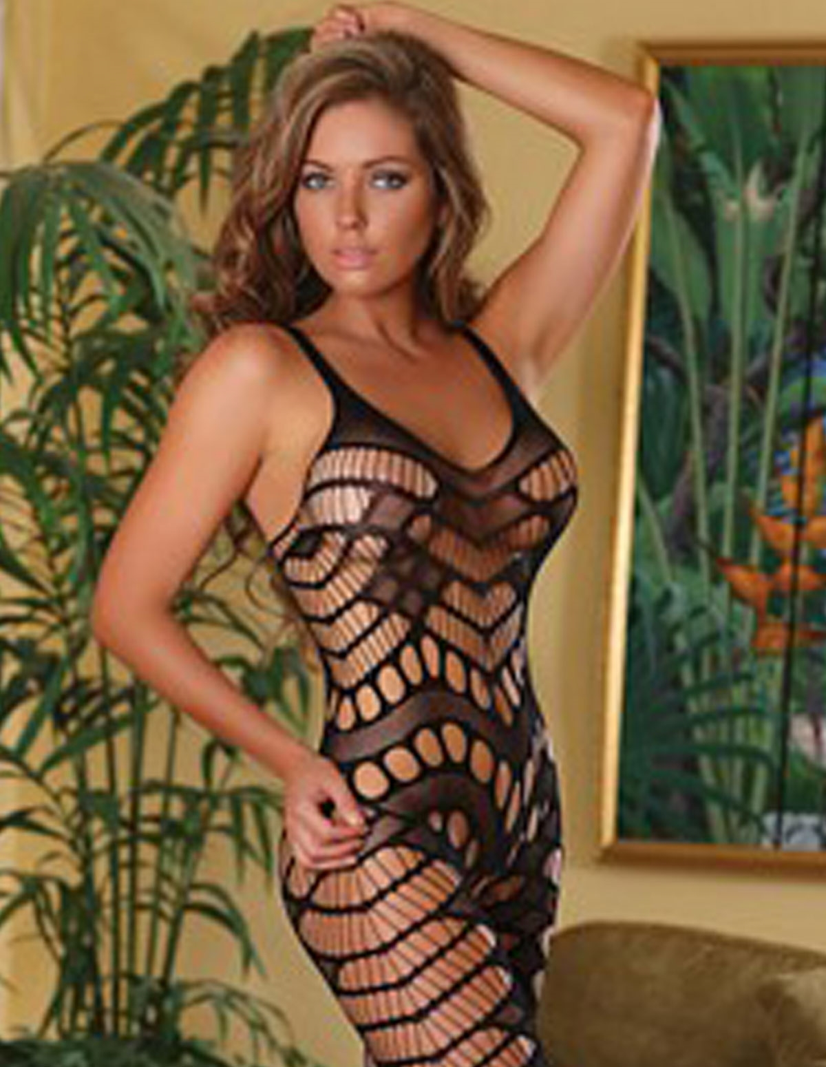 Exposed Club Seamless Crotchless Catsuit