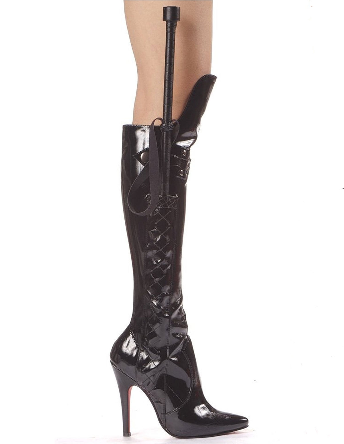Sadie Patent Leather Boot With Crop