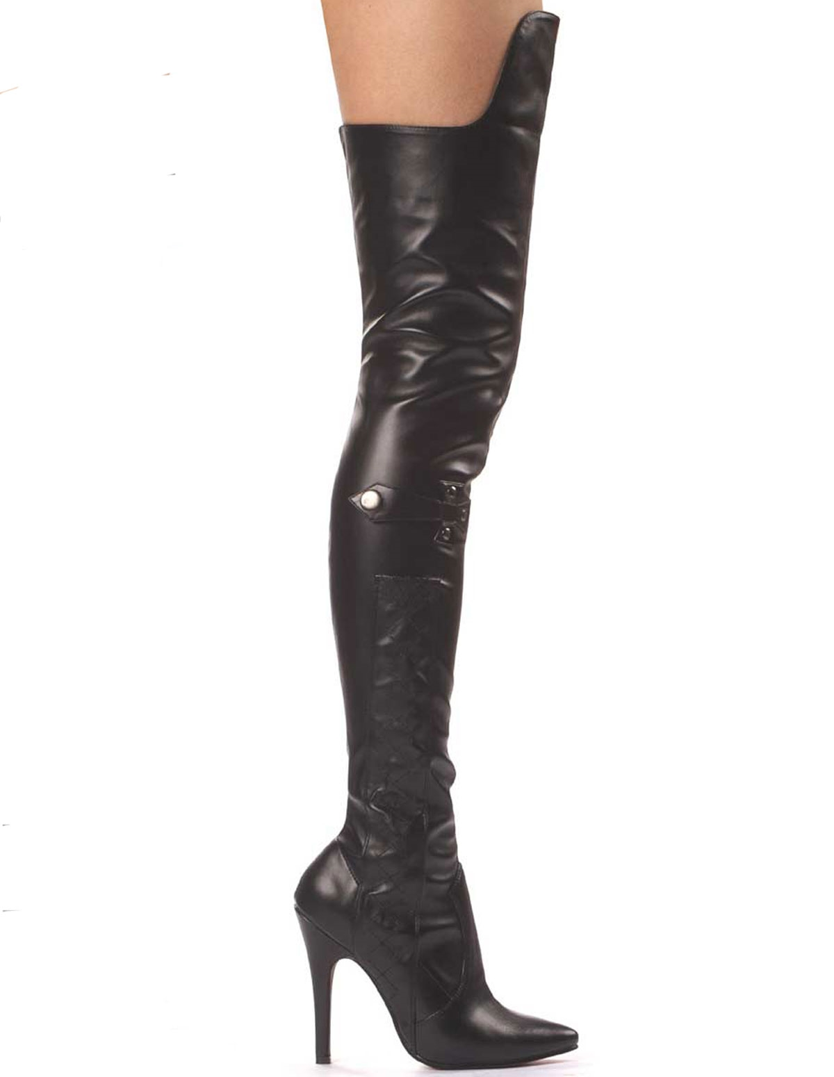 Simone Pleather Thigh High Boot