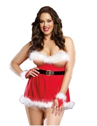 SEDUCE ME SANTA OPEN CUP BABYDOLL - PLUS