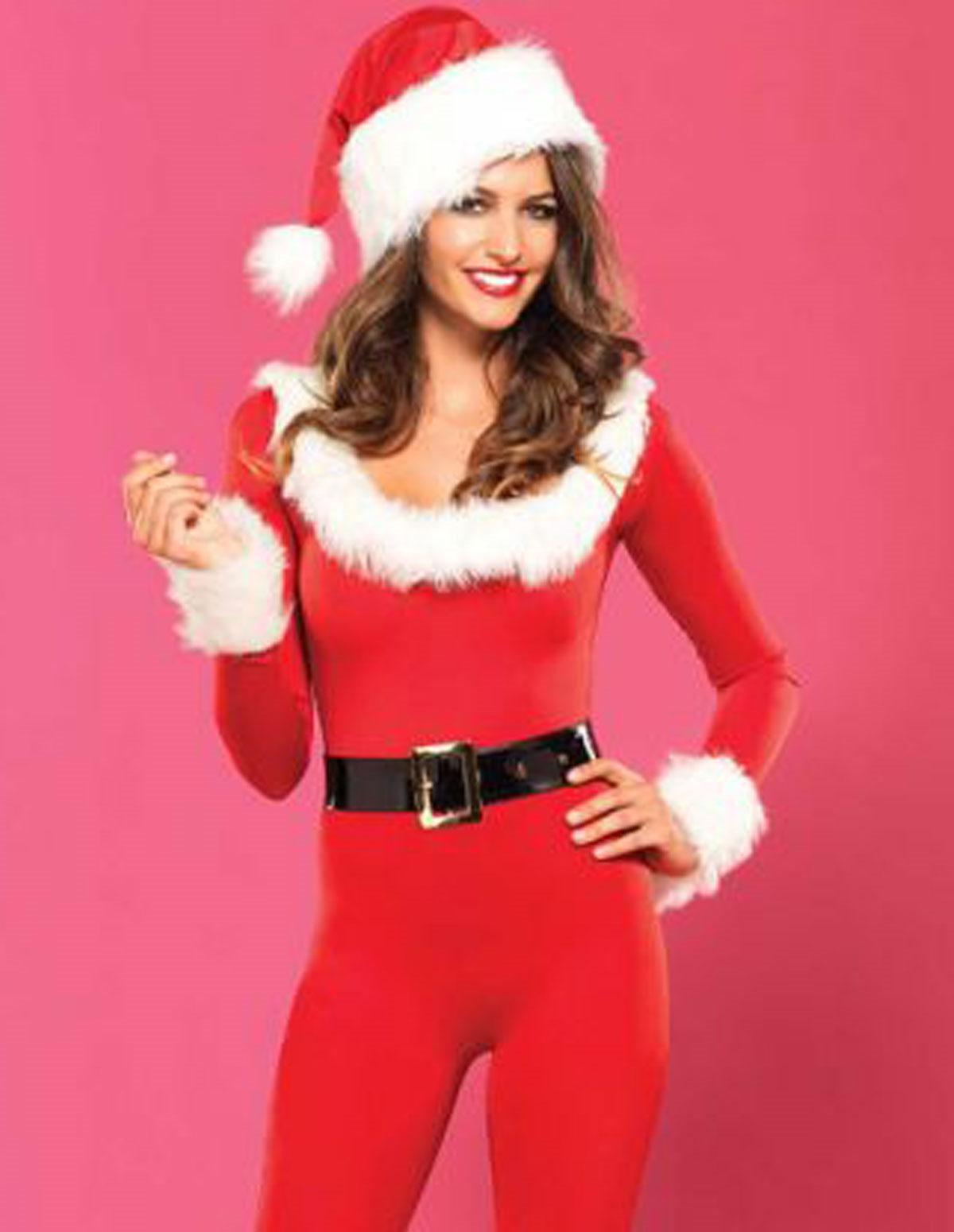 Santa Baby Catsuit With Hat