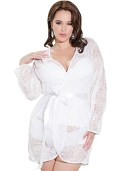 ALL LACE ROBE - PLUS