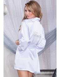 SILKY SOFT BRIDE ROBE