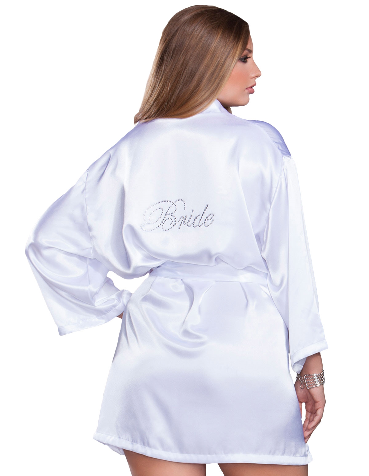 Silky Soft Bride Robe - Plus