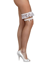 2PC BRIDAL LEG GARTER SET - PLUS