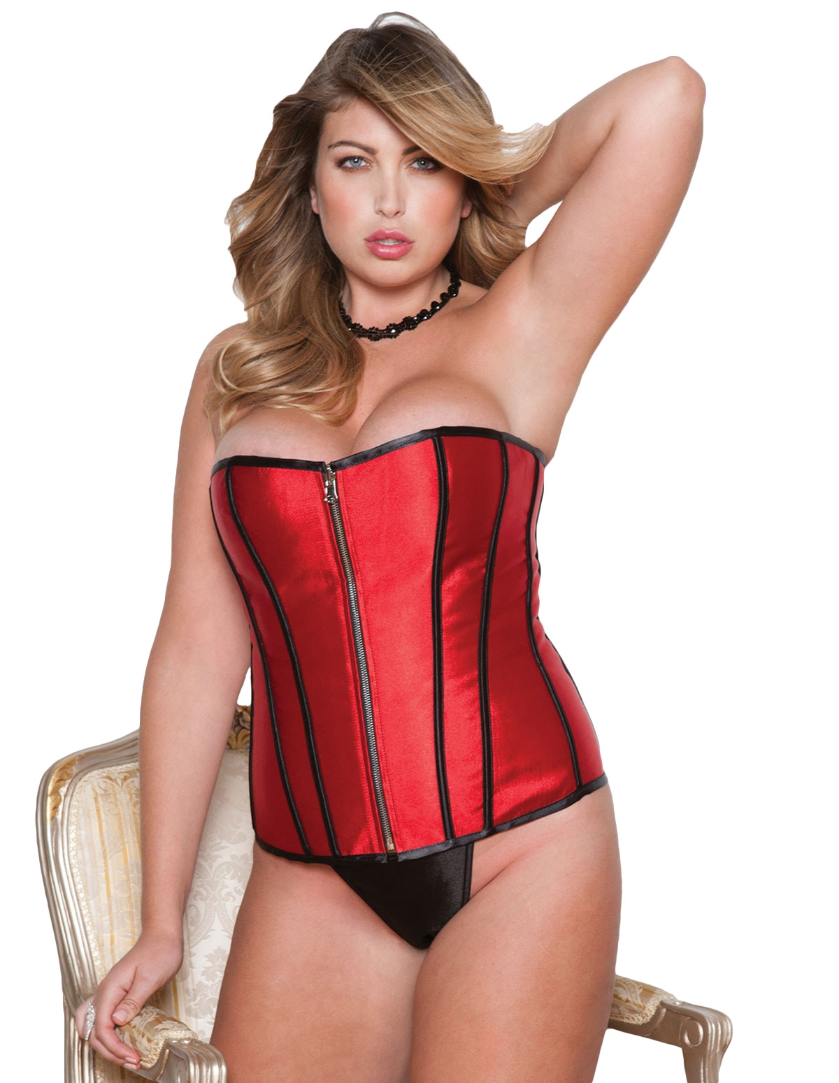 Zip Reversible Corset - Plus
