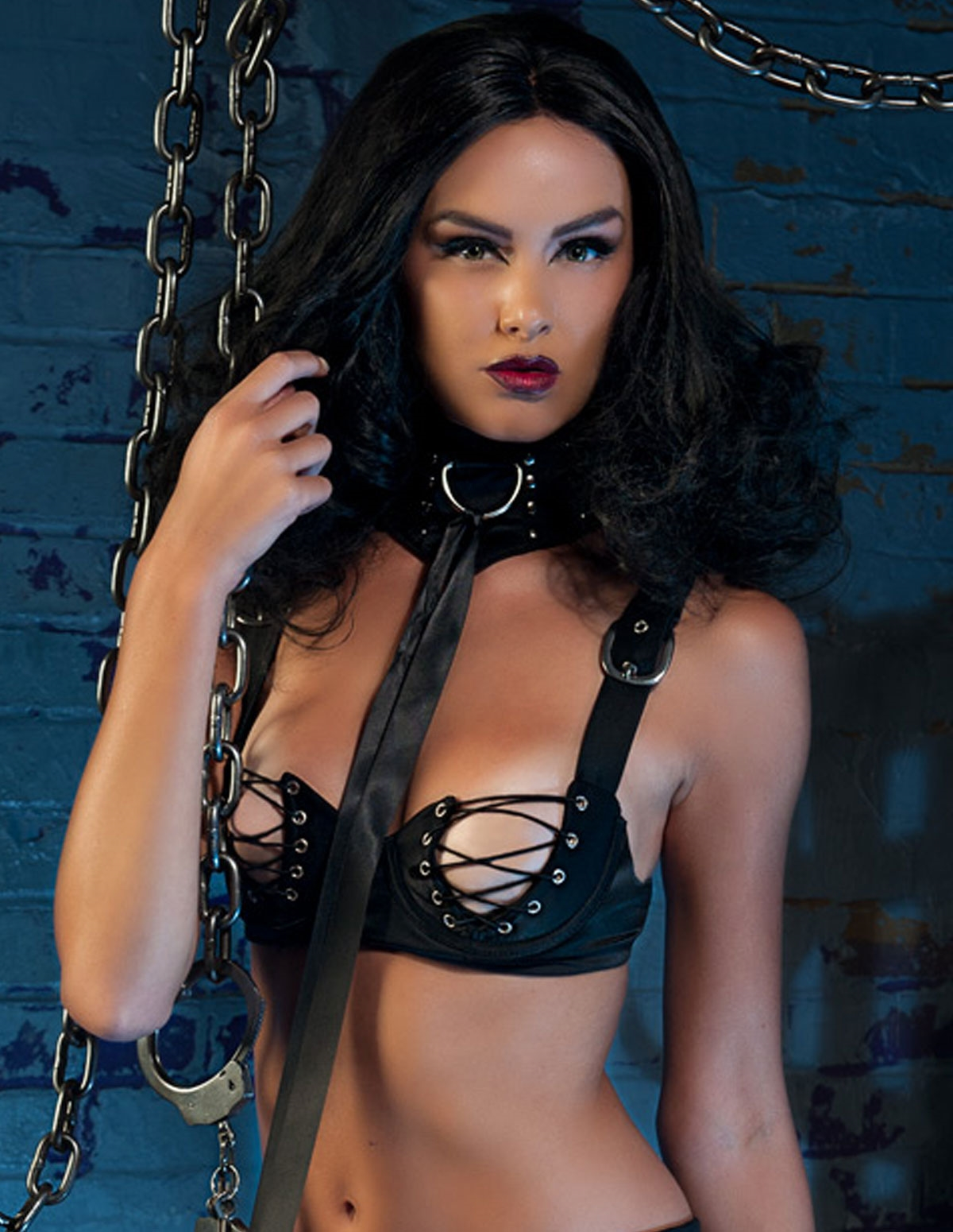 Fetish Lace-Up Bra