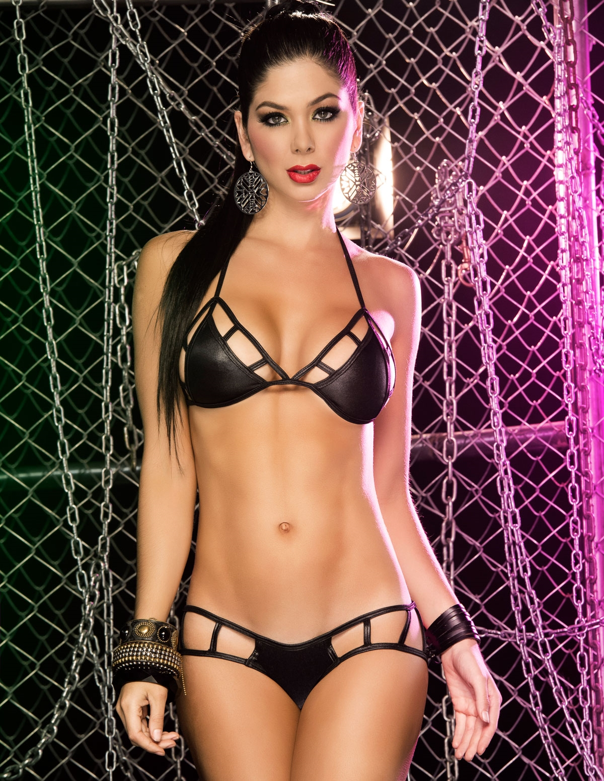 Caged Two Piece Bra Set