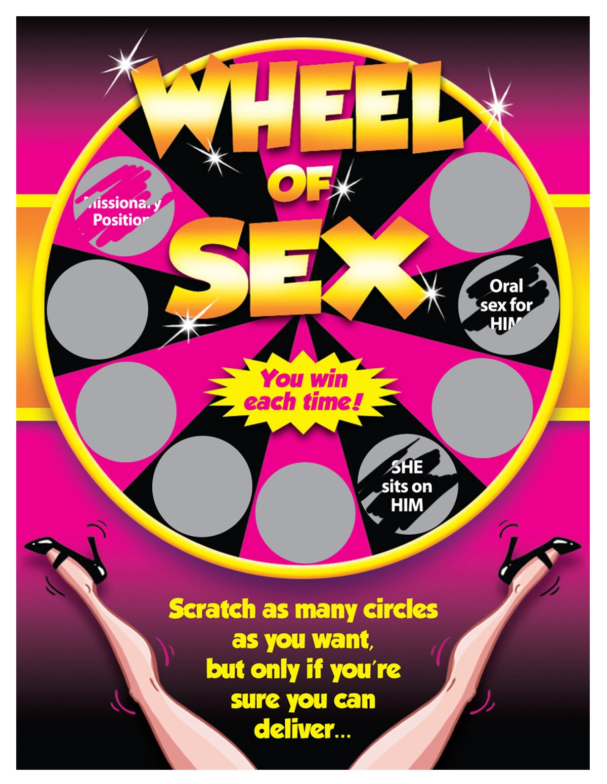 Wheel Of Sex Sexy Scratcher