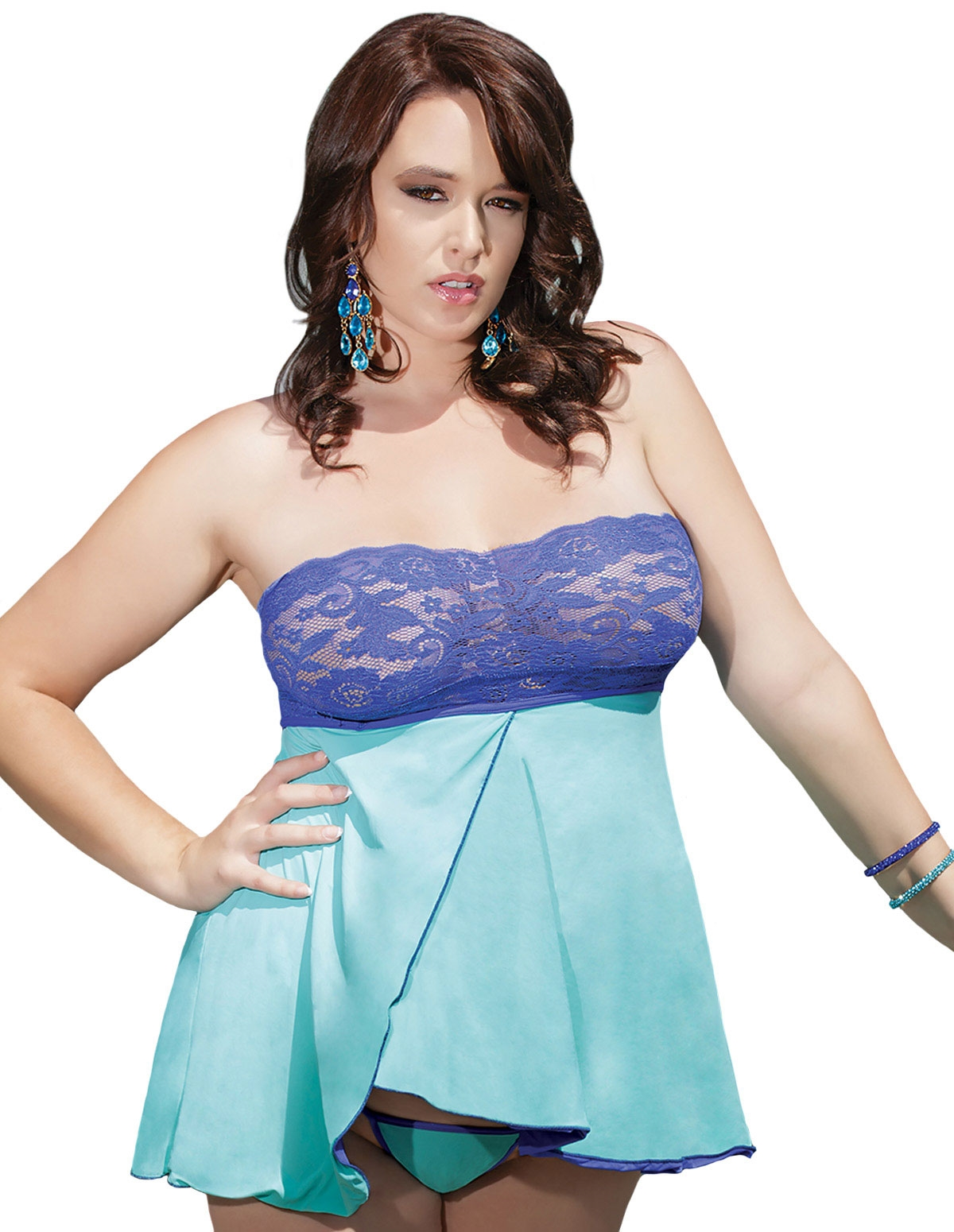 Caribbean Dreams Reversible Babydoll - Plus