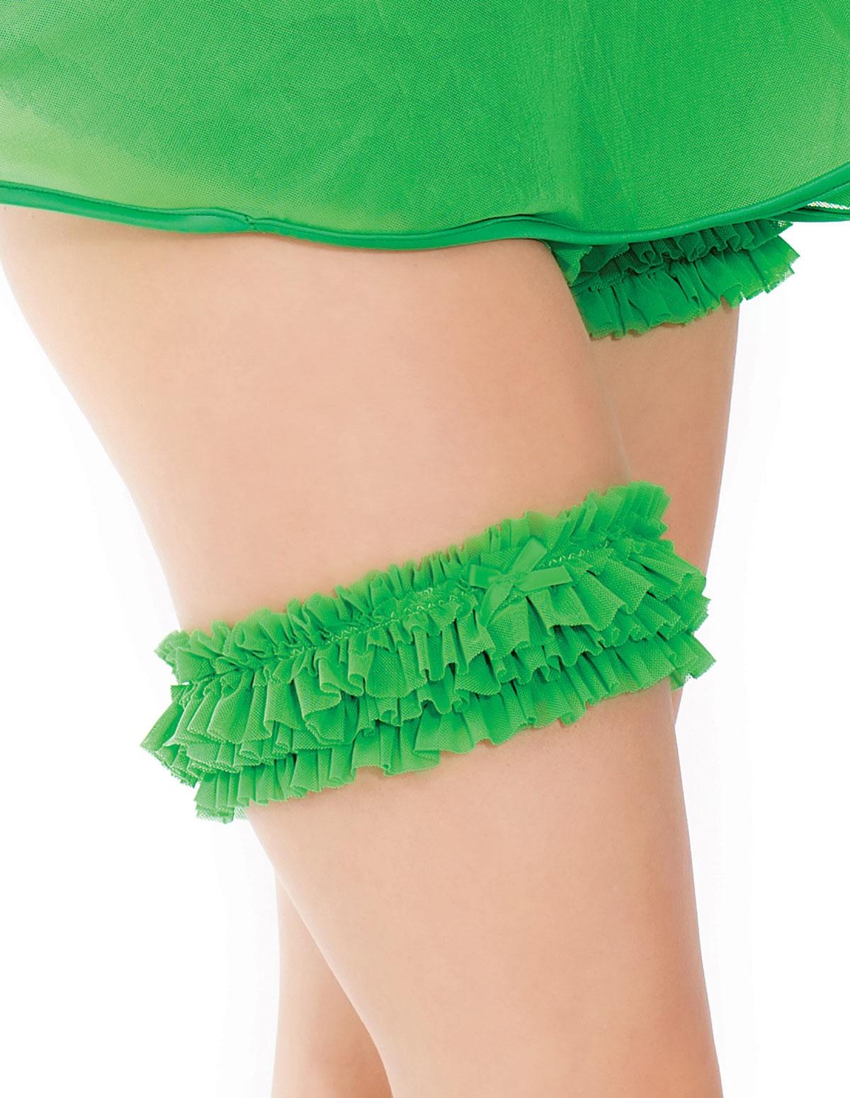 Ruffle Mesh Leg Garter