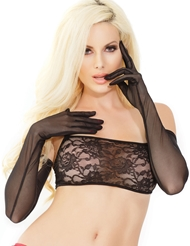 SHEER MESH LONG GLOVES
