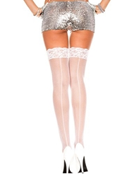 FISHNET THIGH HIGH WITH BACKSEAM - PLUS