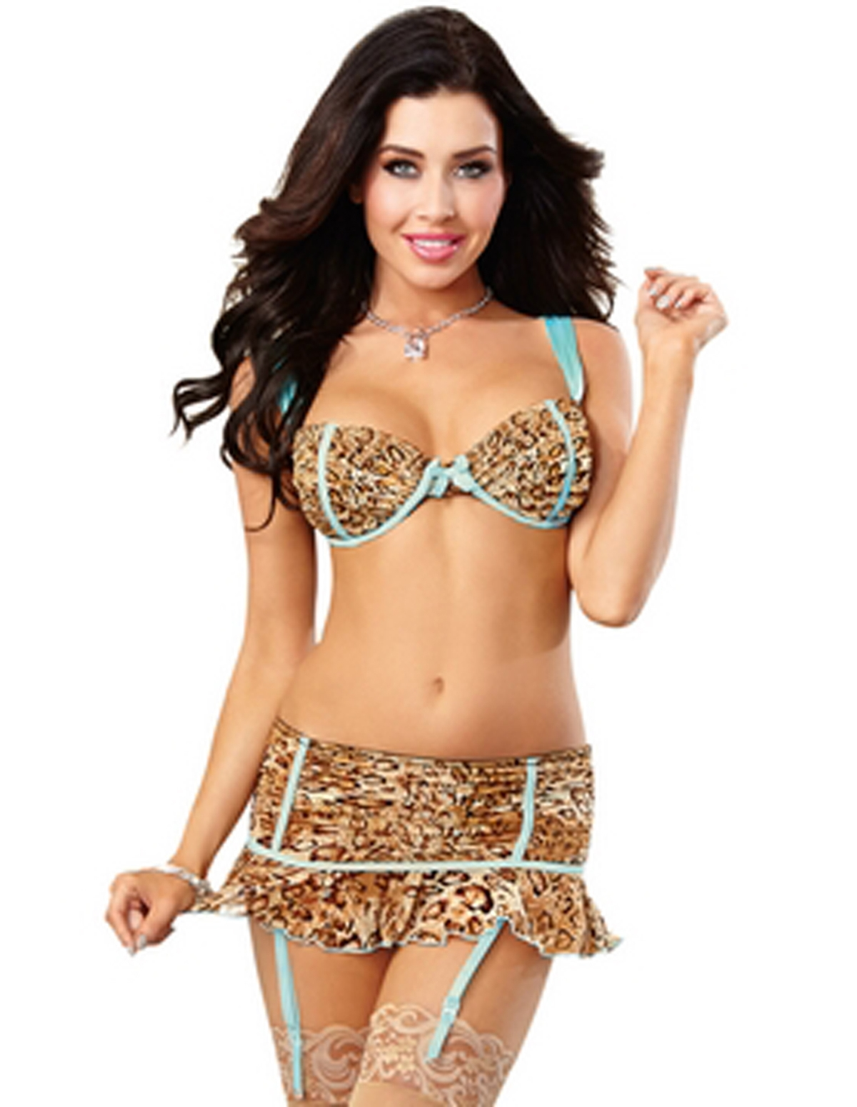 Leopard Love Skirt Set