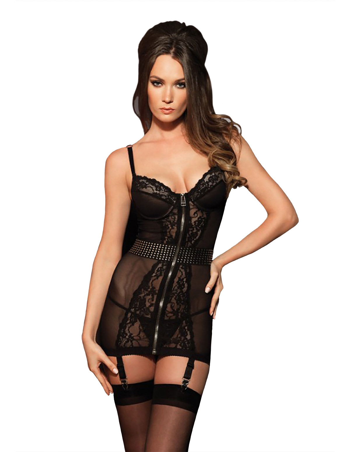 Hot Shot Studded Chemise