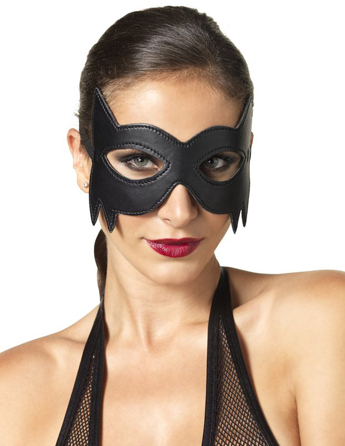 Faux Leather Fantasy Cat Eye Mask