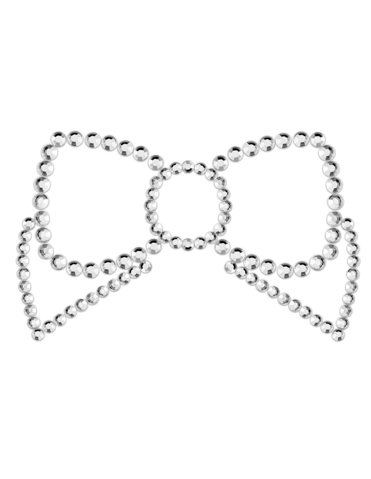 Mimi Bows Jeweled Pasties - Silver