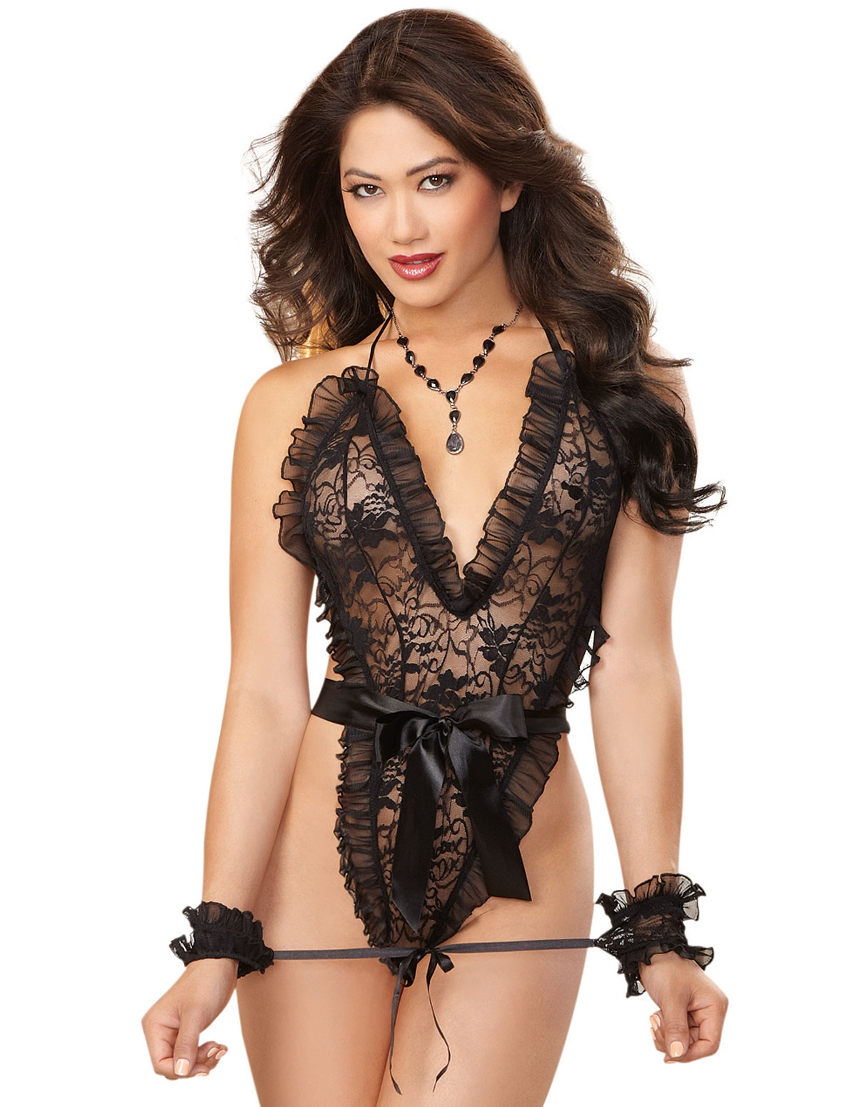 Ruffle Love Lace Teddy