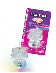 LIGHT UP BOOBIE TORSO SHOT GLASS