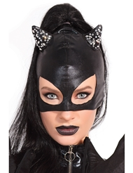 DAZZLE CAT MASK WITH RHINESTONE DETAIL