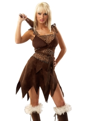 5PC SEXY CAVE GIRL COSTUME