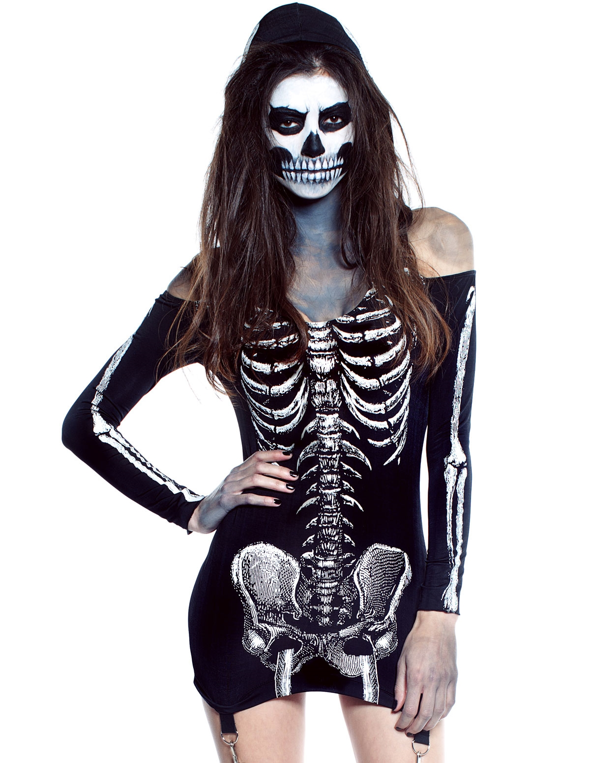 Skin And Bones Dress With Garters