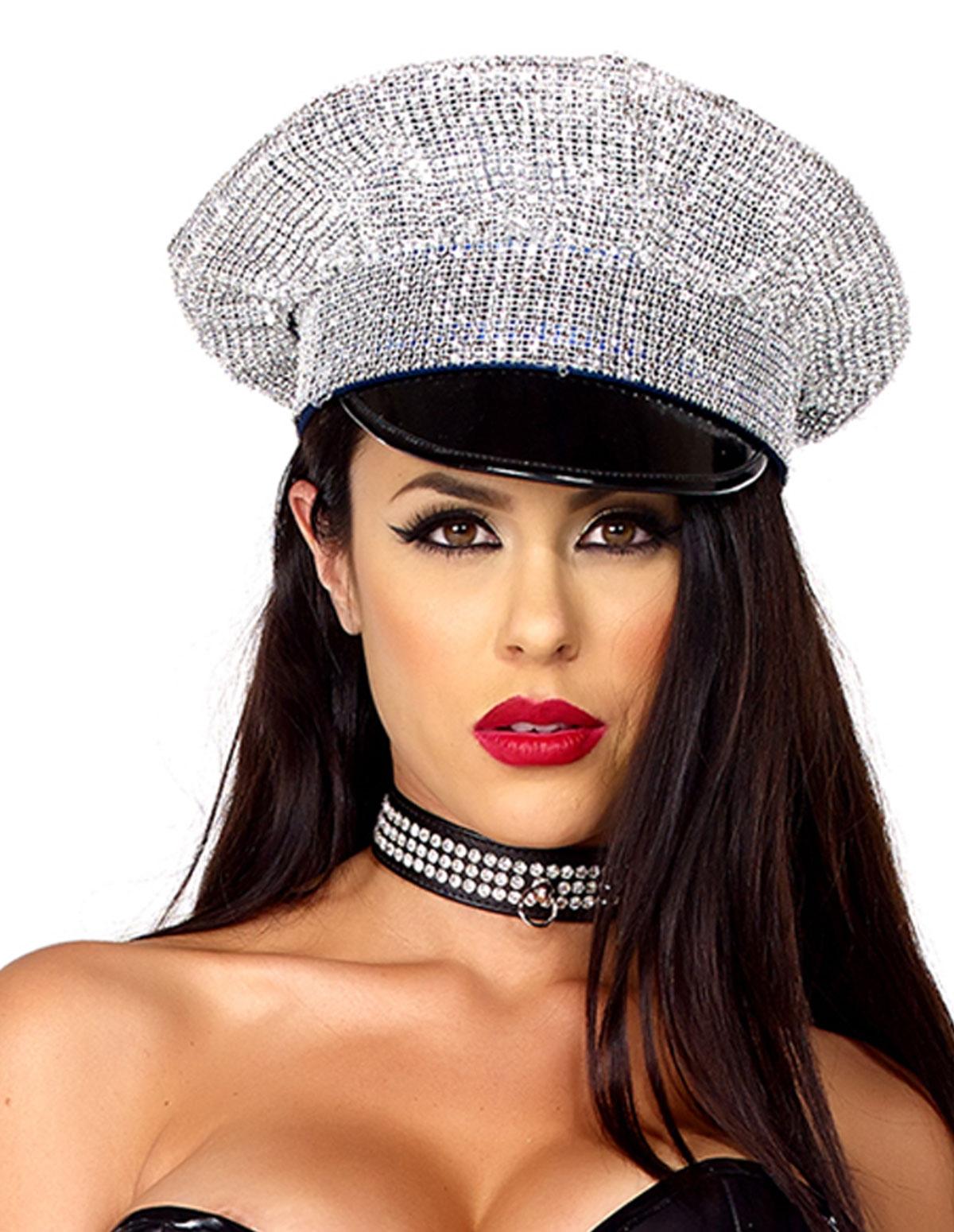 Rhinestone Cop Hat