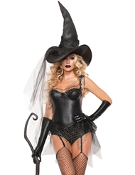 SEXY BLACK SPIDER WITCH COSTUME