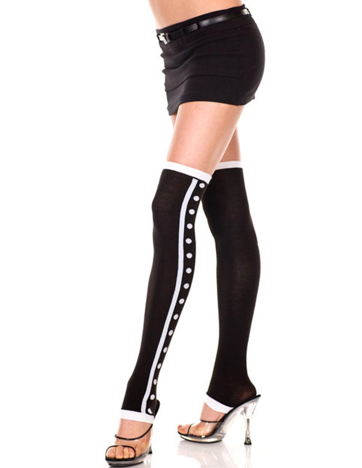 Polka Dot Stripe Acrylic Leg Warmers