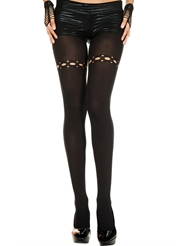 RIPPED NET HOLES SPANDEX TIGHTS