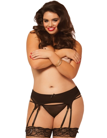 DOUBLE UP 8-STRAP GARTER BELT - PLUS